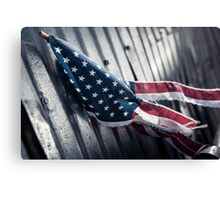 Tattered Patriot Canvas Print