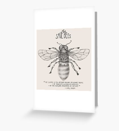 Steampunk - Save the Bees Greeting Card