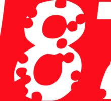 187 Bullet Holes Supreme | FreshThreadShop.com Sticker