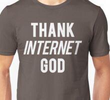 Thank Internet God White Ink | FreshThreadShop.com Unisex T-Shirt