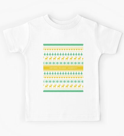 Northern Michigan University Christmas Sweater Design Kids Tee