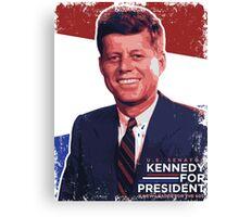 John F. Kennedy Pro-Election Propaganda Canvas Print