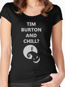 Tim Burton and Chill Women's Fitted Scoop T-Shirt