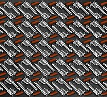 Old revolver six shooter pattern illustration by creativedesignz