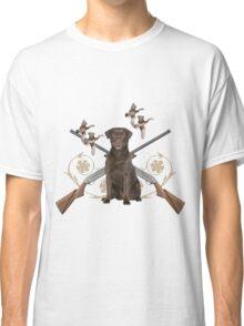 Chocolate Lab Gun dog Classic T-Shirt