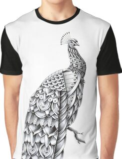 Ornate Peacock Graphic T-Shirt
