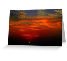 Dramatic red sunset Greeting Card