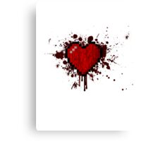 8-Bit heart splatter Canvas Print