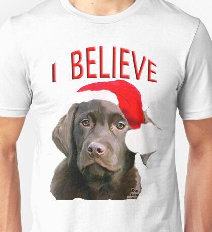 Chocolate Lab Believe Unisex T-Shirt