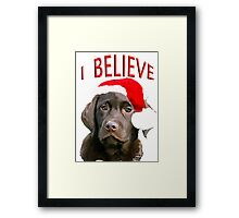 Chocolate Lab Believe Framed Print