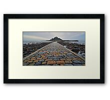 Cornwall: Causeway to the Mount Framed Print
