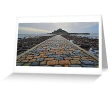Cornwall: Causeway to the Mount Greeting Card