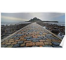 Cornwall: Causeway to the Mount Poster