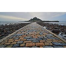 Cornwall: Causeway to the Mount Photographic Print