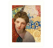 Klimt and Bouguereau  Art Print