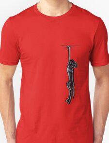 Clingy Black Lab Unisex T-Shirt