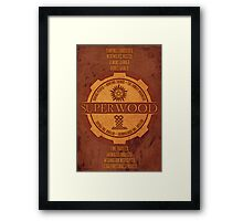 SuperWood Recruiting Poster Framed Print