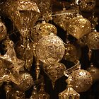 Gold Baubles by Claire Elford
