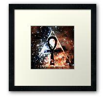 Hipster Space Ankh Framed Print