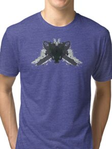 Leatherface Texas Chainsaw Massacre Inkblot  Tri-blend T-Shirt