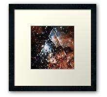 hipster space cat Framed Print