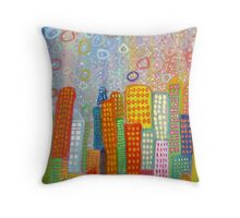 the happy city Throw Pillow