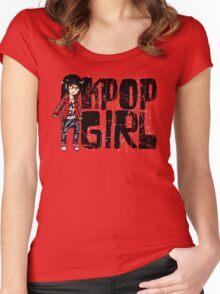 K-Pop Girl Women's Fitted Scoop T-Shirt