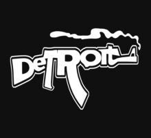 Funny Detroit Smoking Gun (AK version) by robotface