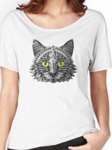 Ornate Black Cat Women's Relaxed Fit T-Shirt