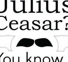 Anchorman 2 Julius Caesar T-shirt  Sticker