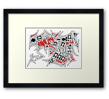 A splash of red in reality... Framed Print