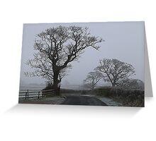 a Foggy Day. Greeting Card
