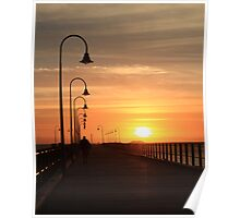 Jetty sunrise Poster