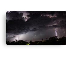 Lightning strike - Gladstone Canvas Print