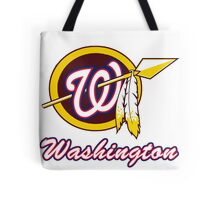 Washington Redskins Nationals mashup Tote Bag