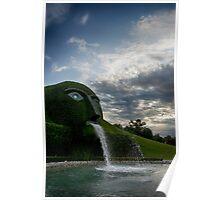 Fine art landscape photography Swarovski museum outdoor garden fountain - Il Gigante di Cristallo Poster