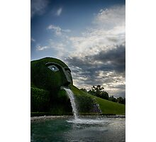 Fine art landscape photography Swarovski museum outdoor garden fountain - Il Gigante di Cristallo Photographic Print