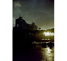 Altare della Patria under a storm at sunset Rome Italy artistic wall art - E' arrivato il Temporale Photographic Print