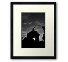 Architecture of Europe travel Wellington Arch in London city street photography at sunset - L'Arco Framed Print