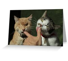 To the Knuckle Greeting Card