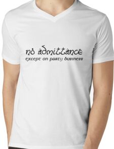 No Admittance Mens V-Neck T-Shirt