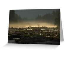 Sunrise over the river in a valley in the Alps landscape color photography wall art - Sole basso Greeting Card