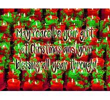 Simple Christmas Wish Photographic Print