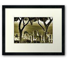 Circus Maximus ruins in Rome travel historic fine art gold tone wall art landscape from Italy - Urla nel silenzio   Framed Print