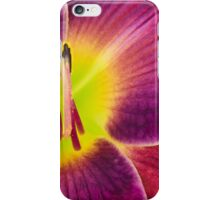 Day-lily, Hemerocallis 'Round Midnight'. iPhone Case/Skin