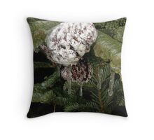 Frozen Winter Throw Pillow