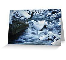 Winter scene snow and frozen creek - wall art home decor color - Acqua e Ghiaccio Greeting Card