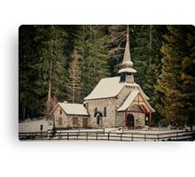 Little church in the forest - fine art color photo - Vicino Canvas Print