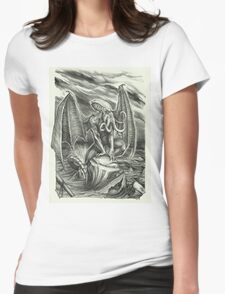 Cthulhu Awakens Womens Fitted T-Shirt