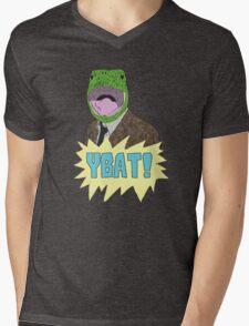 YBAT! Laser Turtle Shirt Mens V-Neck T-Shirt